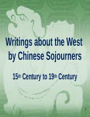 Mar 23_Writings about the West by Chinese Sojourners