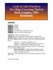 Code of Safe Practices for Ships carrying timber deck cargoe
