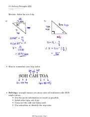 8.1 Solving Triangles (III)