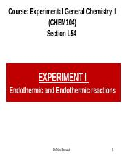Experiment 1_Exothermic and Endothermic reactions_L51