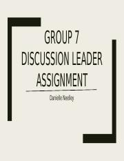 Group 7 discussion leader assignment-2.pptx