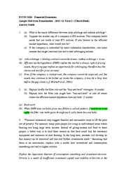 ECON 3420 Sample Mid-term (Answer)