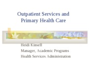 Primary Care - Heidi Kinsell - 2009
