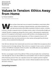 Values in Tension_ Ethics Away from Home