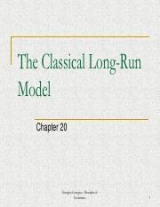 Week 9 - The Classical Long-Run Model (Chapter 20)
