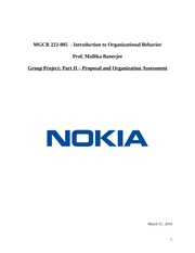 Nokia Project final report