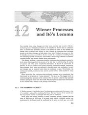Chapter 12 Lecture on Wiener Process and Brownian Motion