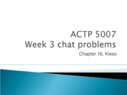 5007 chat 3 problems (2010)