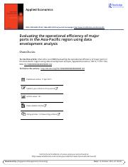 Evaluating the operational efficiency of major ports in the Asia Pacific region using data envelopme
