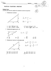 Triangles Exam