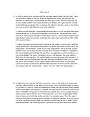chem lab 5 essay The ap chemistry course is designed to be the equivalent of the general chemistry course usually taken during the first college year lab notebooks and college.