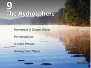 Chapter 9. 13 Hydrosphere Landform