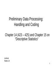 BB Slides - Notes 14 - Data Handling and Coding-2.ppt