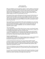 Final examination essay