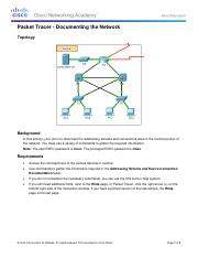 4.1.2.9 Packet Tracer - Documenting the Network Instructions