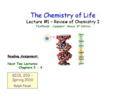 Lecture _1 - Review of Chemistry I