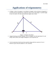 MATH336 Applications of Trig
