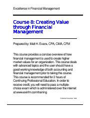 course08-creating value through financial management