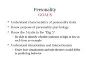 9 - Personality
