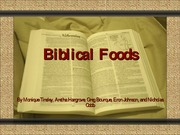 Biblical Foods Team Assignment