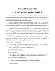 CHAPTER ELEVEN finding your worldview