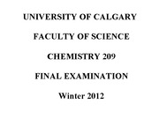 Chemistry Final with Solutions: 2012