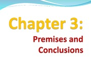Chapter 3 Premises and Conclusions (Part One- Premises)