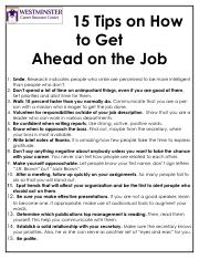 15 Tips on How to Get Ahead on the Job