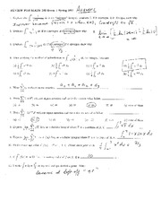 182Exam1-Review-Spring2011-ANSWERS