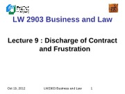 LW2903 Business Law 9(1)
