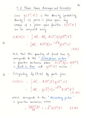 Quantum Probability Density Notes