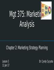 Lesson 3 - Chapter 2 - Marketing Strategy Planning -Cycyota 17(1).pptx
