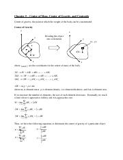Chapter 9 Center of Mass 1.02
