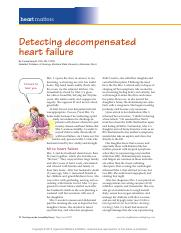 Detecting decompensated heart failure