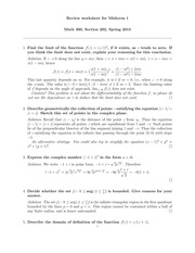 Review Questions for Midterm 1 with Solution