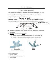 CivE 105 Structural Analysis