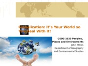 GEOG 1020 Lecture on Globalization 2014-2