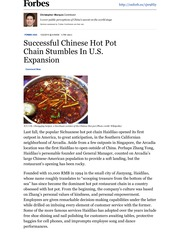 Successful Chinese Hot Pot Chain Stumbles In U.S