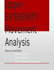 Upper EXTREMITY Movement Analysis