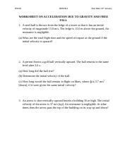 WORKSHEET ON ACCELERATION DUE TO GRAVITY AND FREE FALL.docx
