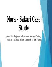 Team BOOM - MBAP 645 - Nora Sakari Case Study Presentation - DUE 03.04.17