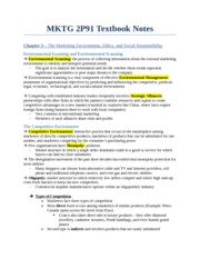 MKTG 2P91 Textbook Notes - Chapter 3