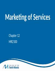 MR2100 Chapter 12 Services