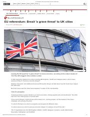 EU referendum_ Brexit 'a grave threat' to UK cities - BBC News.pdf