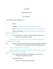 Law 3800, Study Guide, Agency chapter 28 F13.docx