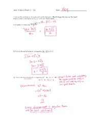 Math 125 Quiz 6 Key On Intermediate Algebra