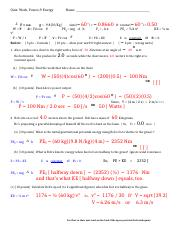 Physics work, power, enegy quiz template