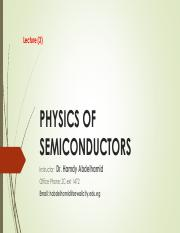 PHYSICS OF SEMICONDUCTORS_Lec3