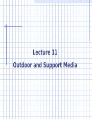 Advertising Lecture 11 -- Outdoor and Support Media rev