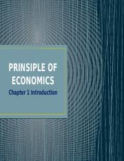 PRINSIPLE OF ECONOMICS (chapter 1)